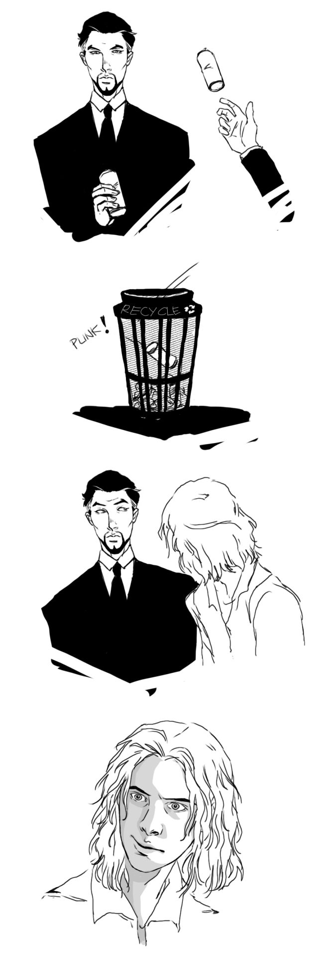 "unobtrusiveandcumulative: ""< sable what are you doing recycling empty cans of black coffee in chalky's presence based off an idea tall-gent-with-a-beard had after seeing harry lloyd's face that one..."