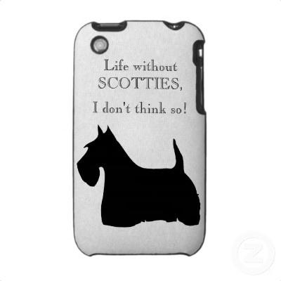 Scottish Terrier dog silhouette iphone 3G case @Jacqueline Calcagnino