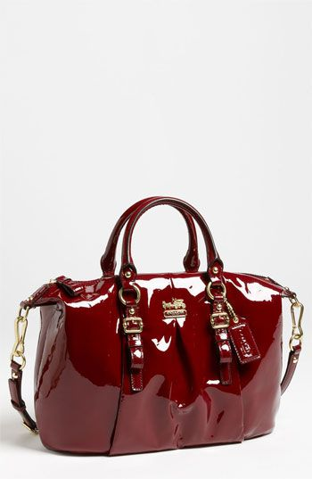 COACH 'New Madison - Juliette' Patent Leather Satchel available at #Nordstrom