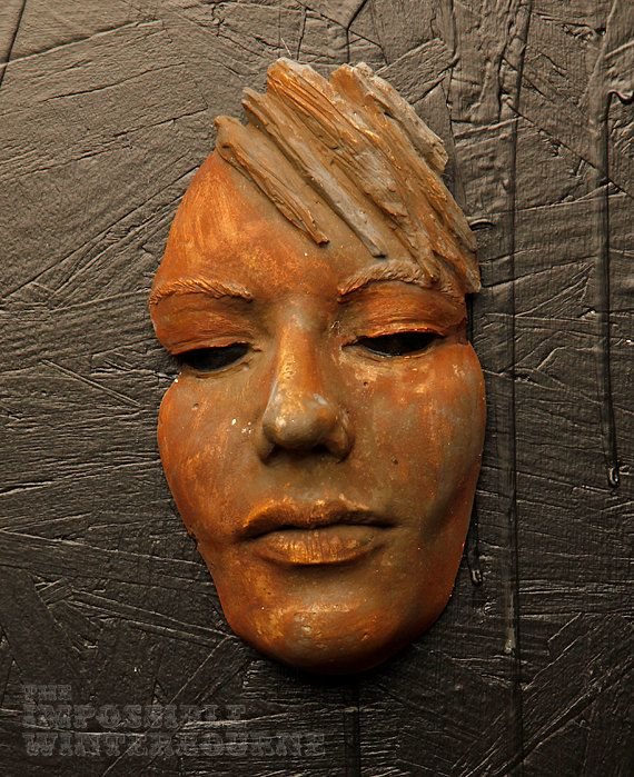 Rusted Female Face Sculpture by WinterbourneWorkshop on Etsy