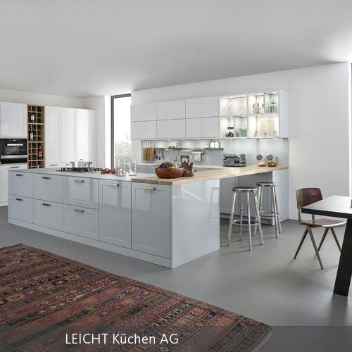 """Pastellfarben beleben moderne Küchen ohne aufdringlich zu sein. Hier ist die neue, hochglänzend lackierte Rahmenfront """"Carré-2-LG"""" zweifarbig angelegt:…"""