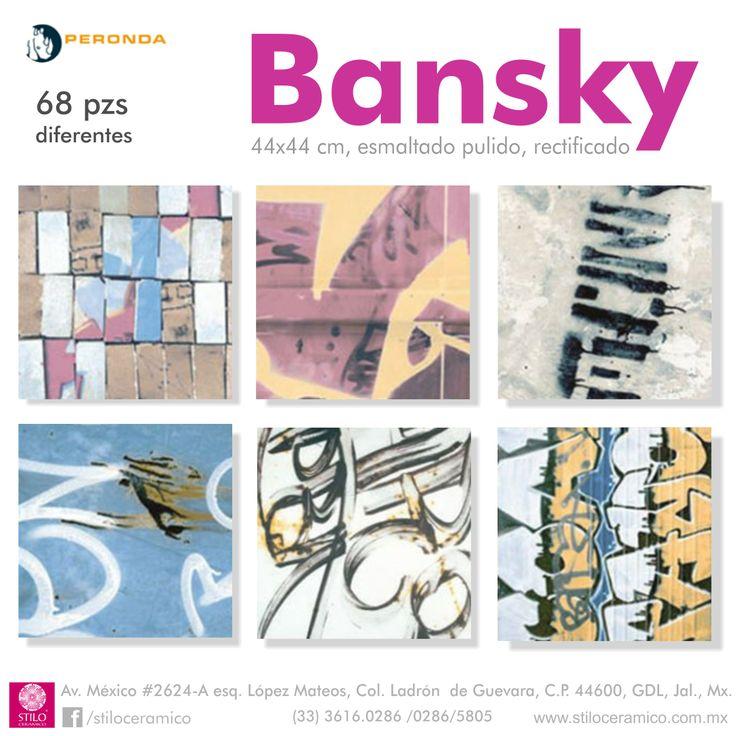 Bansky de la linea Museum de Peronda España, pisos y muros ceramicos esmaltados pulidos.