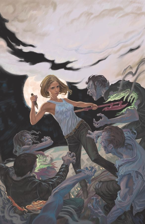 Buffy the Vampire Slayer Season 10 #1  Christos Gage(W), Rebekah Isaacs(A/Variant cover/Ultravariant cover), Dan Jackson(C), and Steve Morris (Cover)