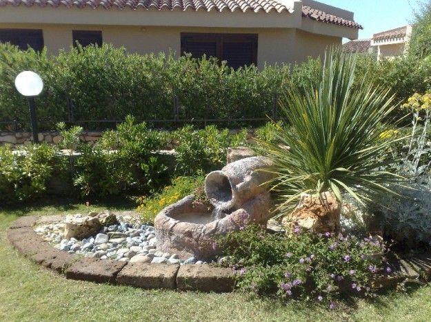 Laghetto con anfora - Come creare un giardino roccioso con laghetto.
