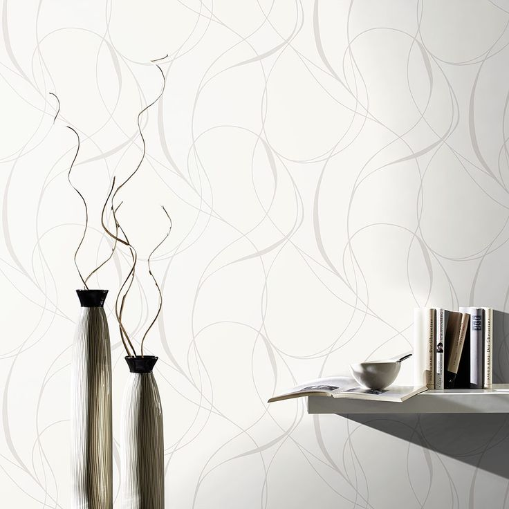 Papier peint intissé blanc - Enzo