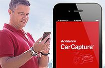 CarCapture™ Mobile App - State Farm®With the CarCapture vehicle recognition app, you can get up to speed on that model in no time. Just take a photo of the back of the car. CarCapture shows you information such as features, start an auto quote, and even a list of dealers who sell that make and model. CarCapture is powered by Edmunds.com®, the trusted car shopping website.
