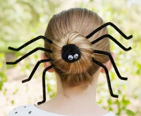 Spider hair cute for  Halloween or crazy hair day at school