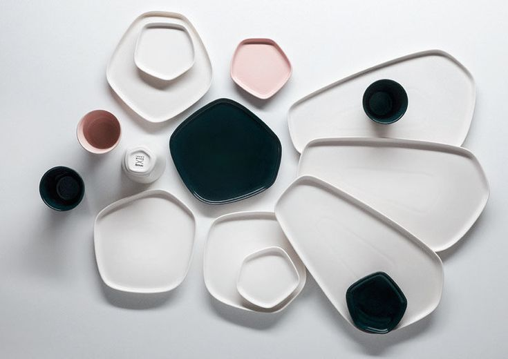 Home Decor Ideas - 6 Ways To Include Ceramic In Your Interior // Uniquely shaped plates and serving dishes give mealtime and entertaining a more unique look.