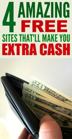 These 4 amazing free sites that'll make you extra cash are THE BEST! I'm so glad I found these AWESOME tips! Now I have some great ways to make money on the side! Definitely pinning for later!