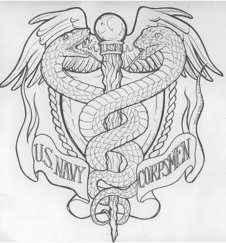 Navy Corpsman Tattoos | Us Navy Corps Commish Request by *biomechlizardchick on deviantART
