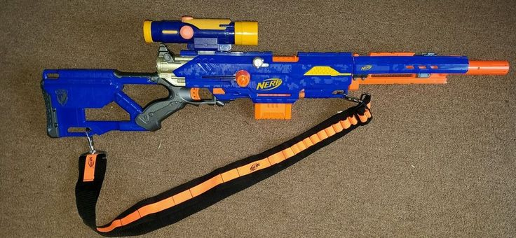 NERF Gun N-STRIKE LONG Strike CS 6 Rare scope shoulder strap free shipping  #Nerf