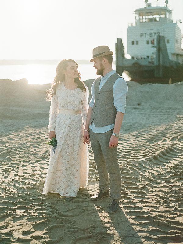 Botanical wedding inspiration sunset