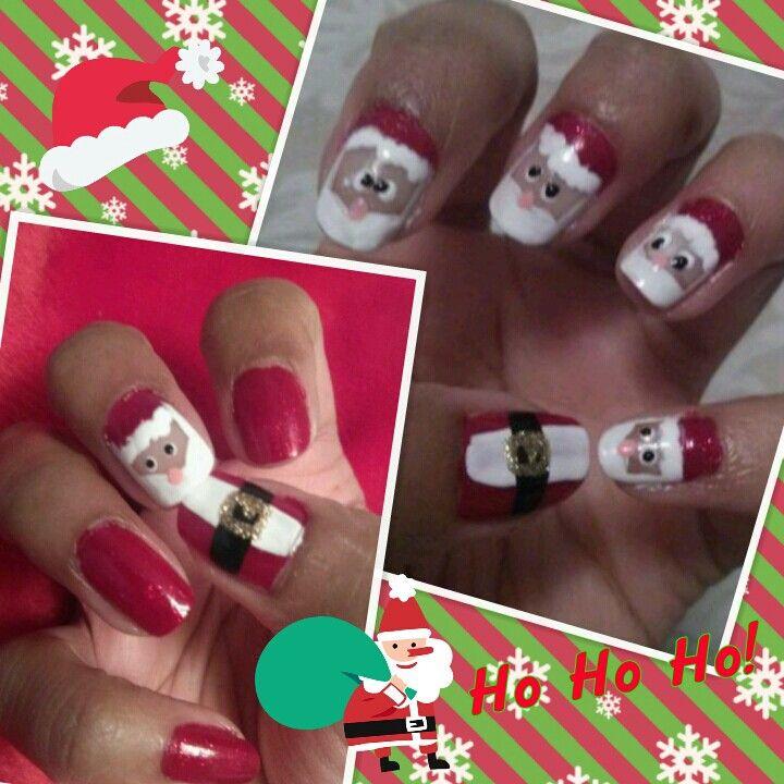 My Santa Nails! #ChristmasNails #SantaNails