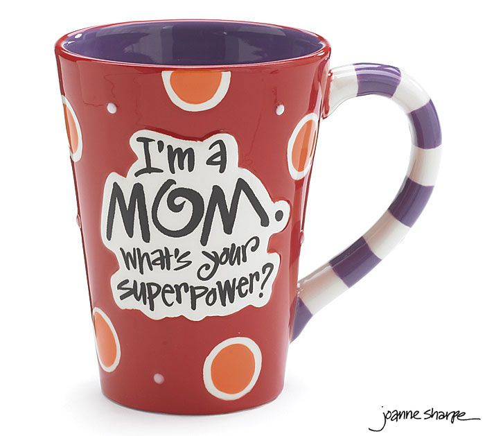 Celebrate all the that is SUPER! about Mom with our #burtonandburton Mom Super Power Mug. #mothers_day #for_mom #gifts