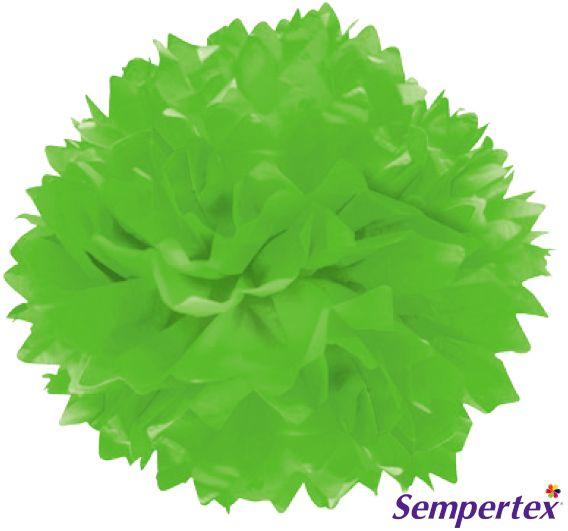 "Pompón Verde Lima 14"" x3"