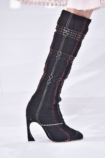 T's Daily Shoe: Christian Dior's Woven Boots. #PFW #SS15 (Photo: Firstview)