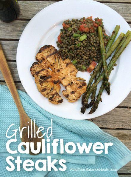 Simple Grilled Cauliflower Steaks