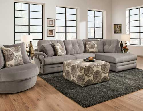 16B0 Gray Sectional   Puritan Furniture West Hartford CT.