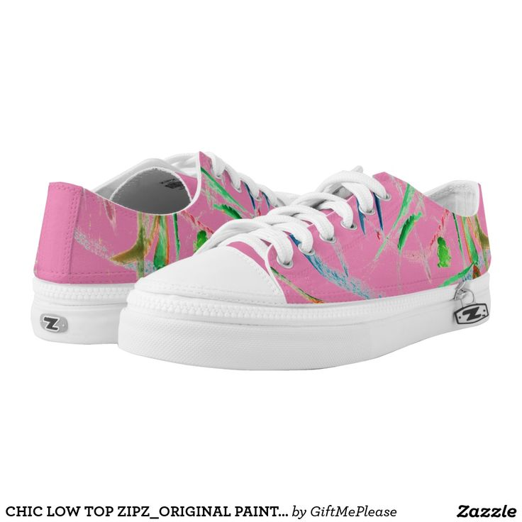 CHIC LOW TOP ZIPZ_ORIGINAL PAINTED ABSTRACT