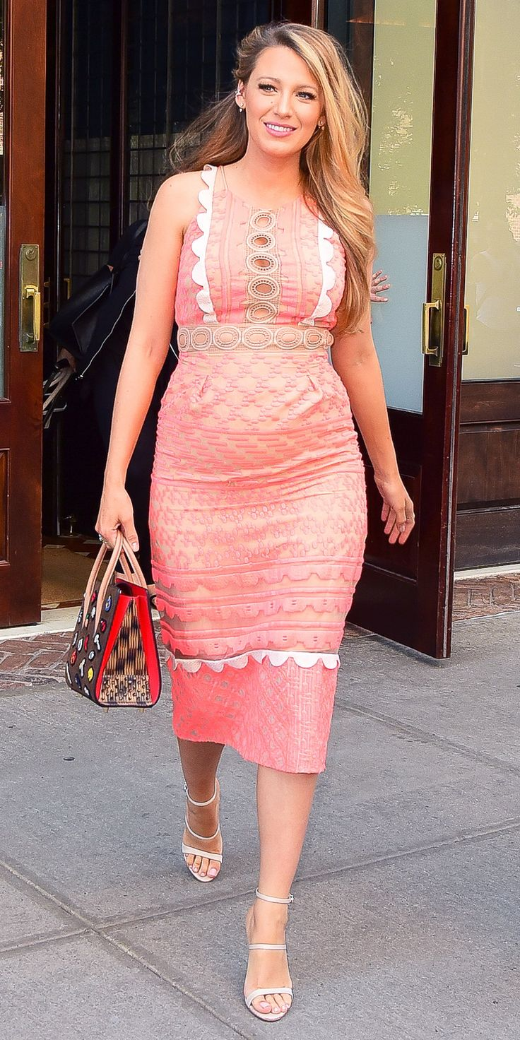 Blake Lively Embraces Cutouts in Her Latest Curve-Hugging Maternity Look from InStyle.com
