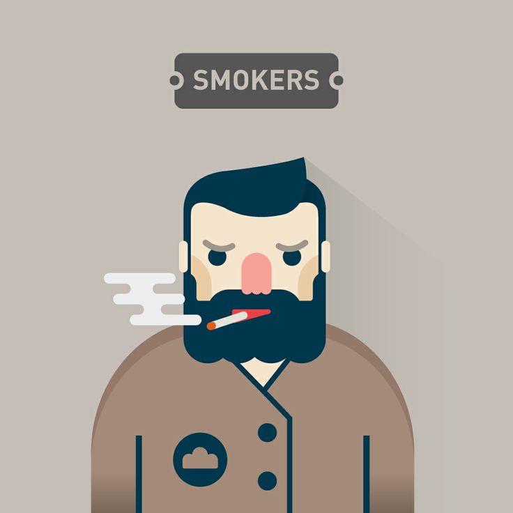 Flat Design Smokers