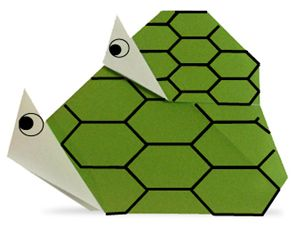 Origami Parent and child turtle