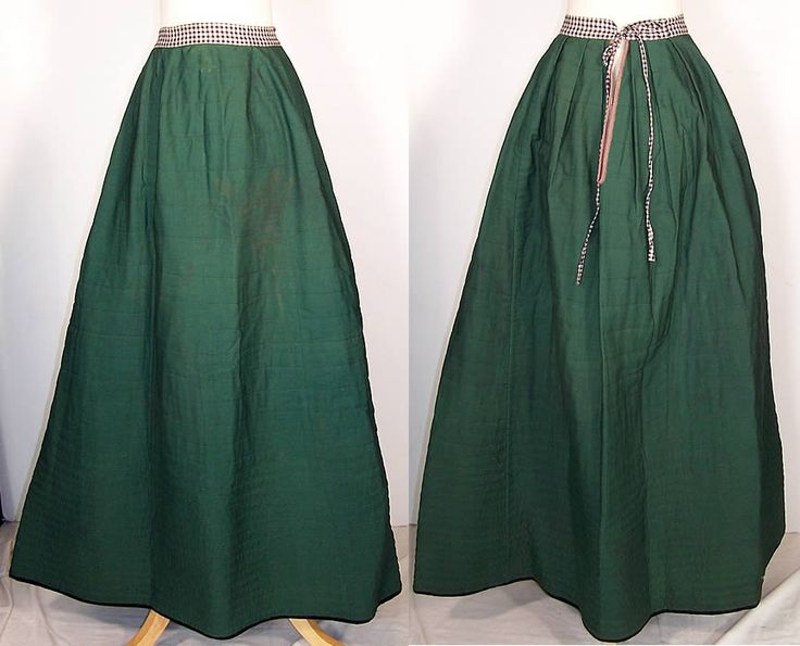 This Antique Victorian Era Green Wool Flannel Lined