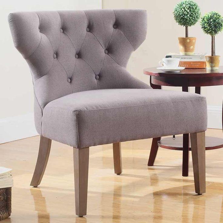 Julian Joseph Warwick Accent Chair Grey high-end cotton blend luxury comfortable