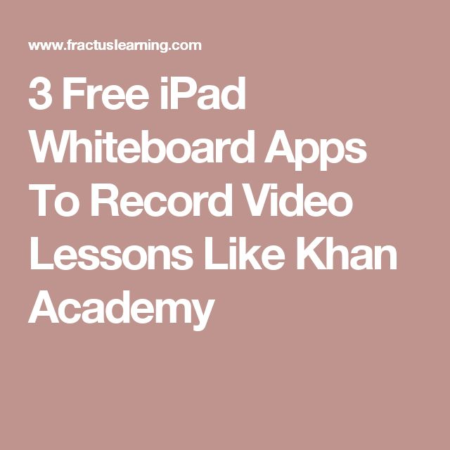 3 Free iPad Whiteboard Apps To Record Video Lessons Like Khan Academy
