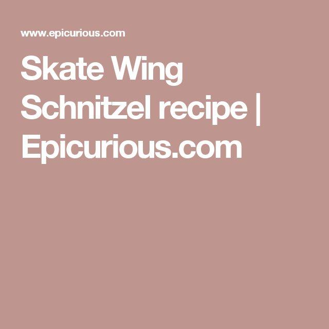 Skate Wing Schnitzel recipe | Epicurious.com