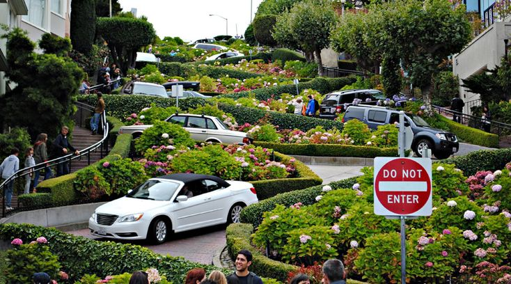 Lombard Street - One of the world's most famous streets is a San Francisco icon.