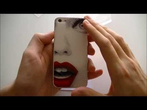 Cover donna bitmap per iPhone 5 della NoGlueLab - Video Recensione