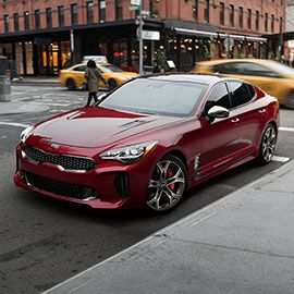 The 2018 Kia Stinger Gt Exterior Front View Kia Stinger Sedan Cars Sedan