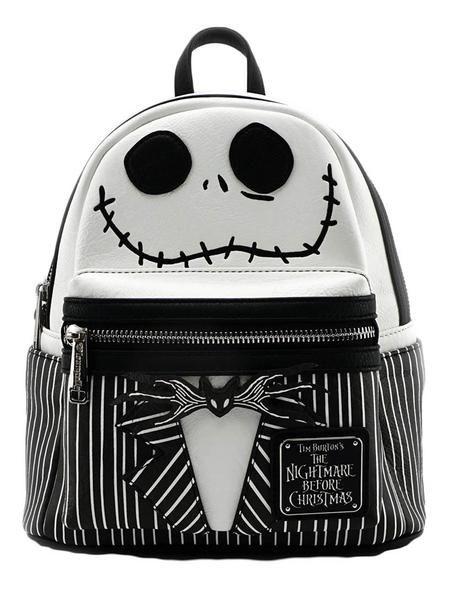 33647e5c0904 loungefly disney nightmare before christmas jack skellington mini backpack  purse skeleton gothic halloween shoulder-bag fashion-backpack