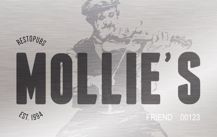 """""""Карта Mollie's Friend 20%"""" Используя карту, вы возвращаете 20 процентов от потраченной суммы. Бонусами можно оплачивать счета частично или полностью в рестопабах Mollie's, Bavaria и Fish&Chips."""
