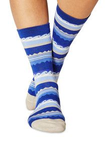 Surf women's super-soft bamboo crew socks in lagoon | Made by Braintree