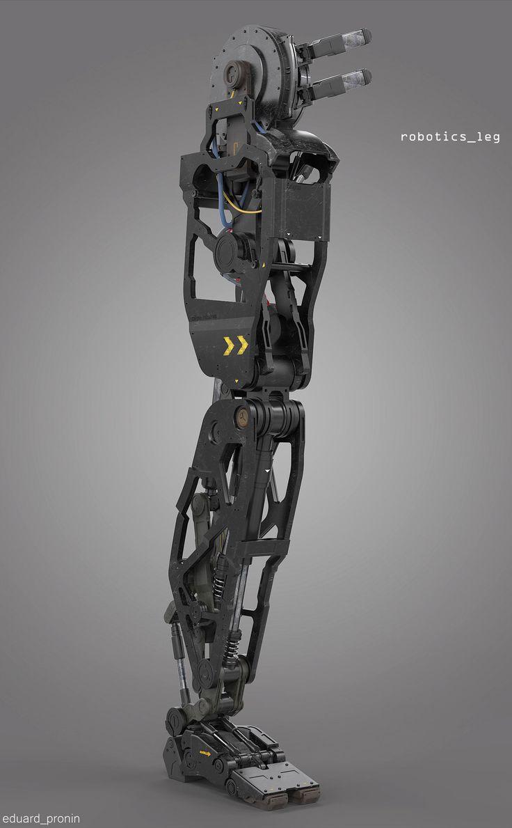 robotics leg 3d concept design for visual arts industry