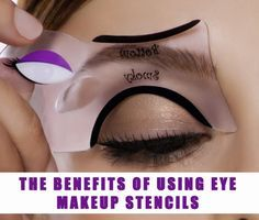 Having trouble creating the perfect eyeliner look? Why not try using an eyeliner stencil. #protips #cateyes #makeup