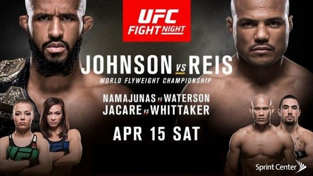 Watch UFC Fight Night: Johnson vs Reis 4/15/2017 Full Show Online Free