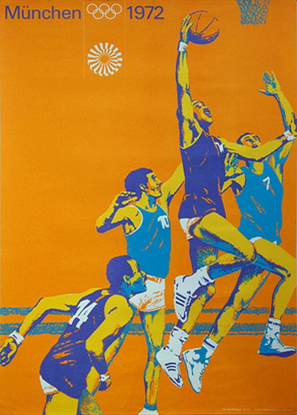 Poster from Munich Olympic Summer Games 1972, German designer Otl Aicher