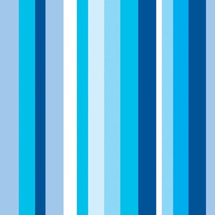 Papel de Parede Listrado em Tons de Azul e Branco - Papel de Parede Digital