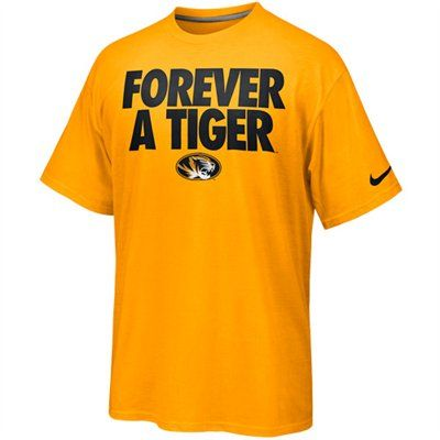 06f146559877f Nike Missouri Tigers Rise & Roar Forever A Tiger T-Shirt | Missouri Tigers  | Sports team apparel, Missouri tigers, Football shirt designs