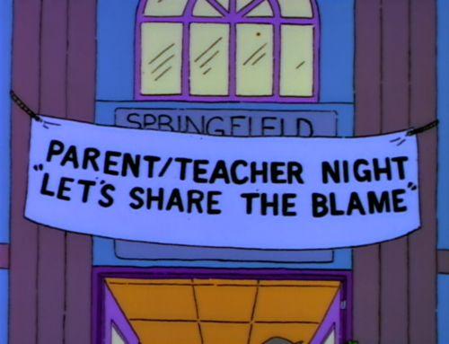 Springfield - parents teacher night