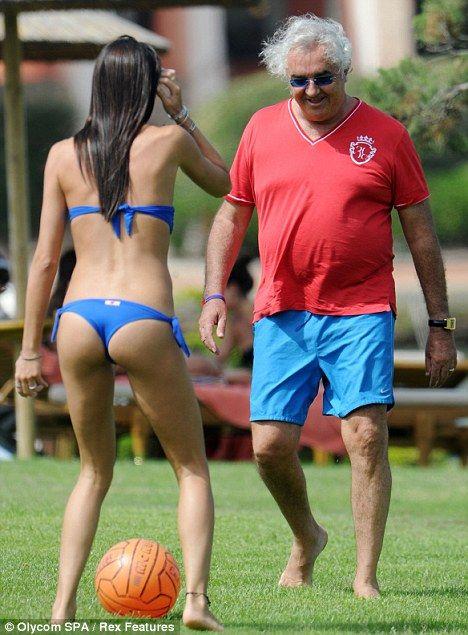 Flavio Briatore's wife Elisabetta shows off her ball skills