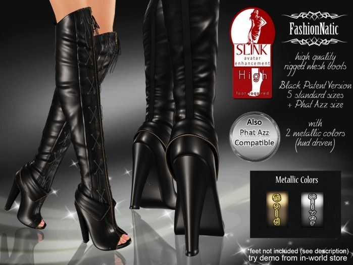 MESH Brandi Slink Boots High Feet + Hud Driven (FEET NOT INCLUDED)