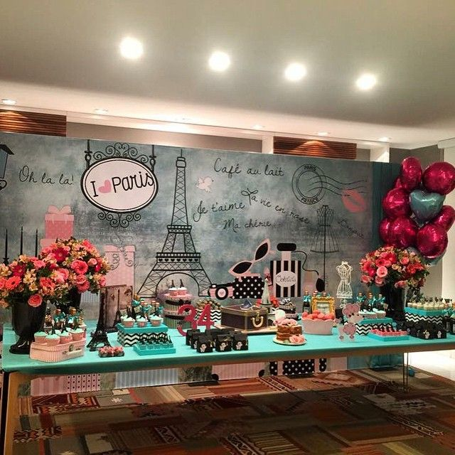 Mais um pouquinho de Paris pra vcs... Oh lá lá #Paris #decoracao #festafofa…