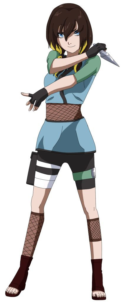Minari  14  Konoha: Genin  Chakra Nature: Lightning  Skilled in complicated tools. Can pick and disarm any bomb, device, lock, etc. Kekkei Genkai: not really one: but spark style, high charge lightning balls that explode and stick to her opponents