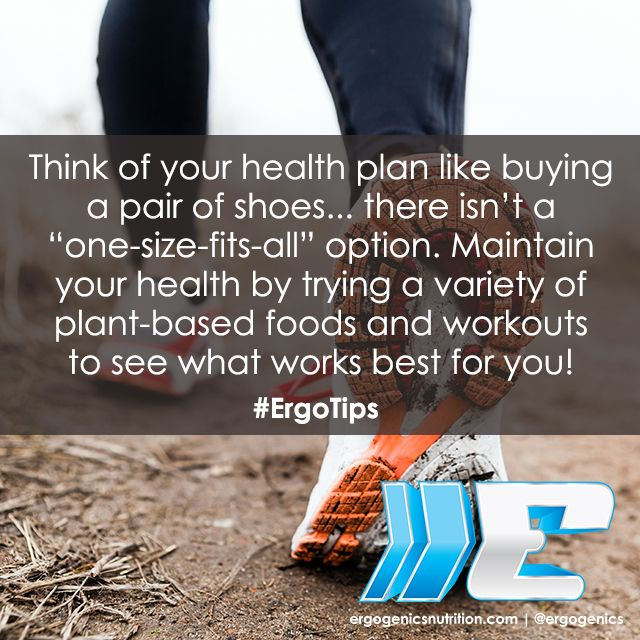 Your health routine is unique to you! #ErgoTips #healthtip #plantbased