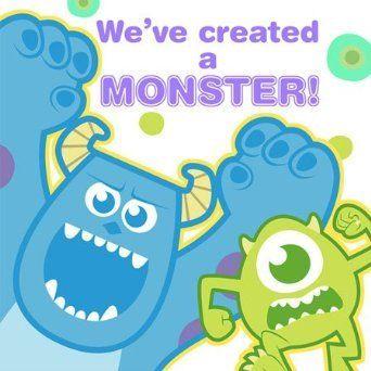 Disney's Monster, Inc, 1st Birthday Lunch Napkin-16 count