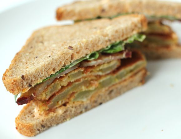 Fried green tomato blt | Deliciousness | Pinterest